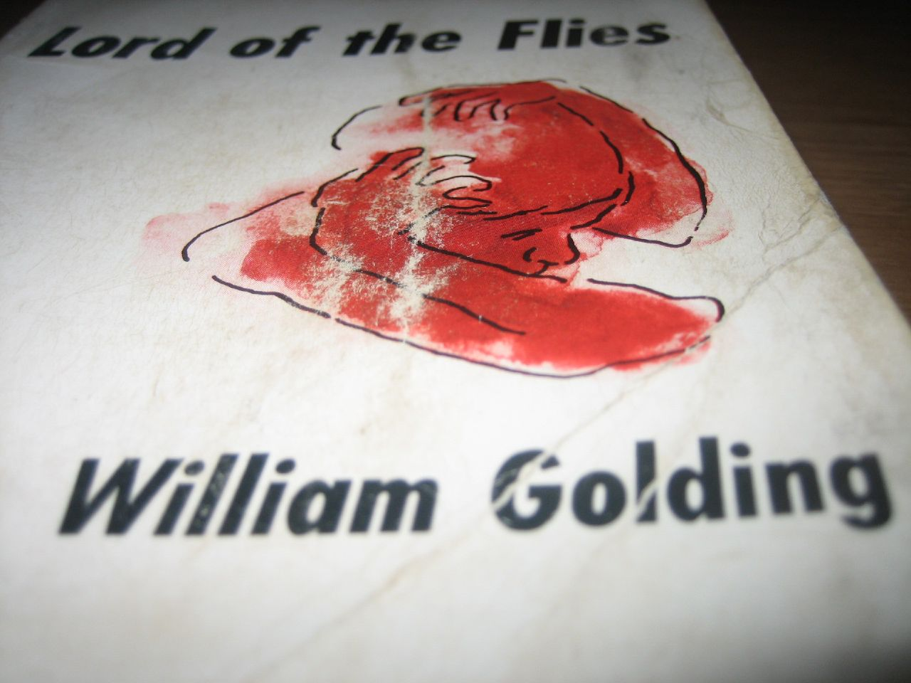 The cover of a vintage edition of Lord of the Flies