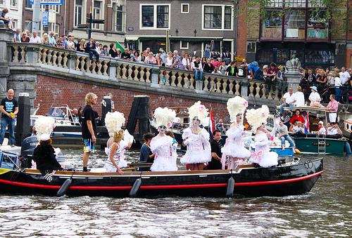 A boat full of drag queens.