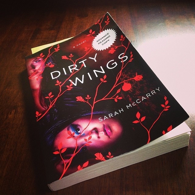 A copy of DIRTY WINGS sitting on a table.