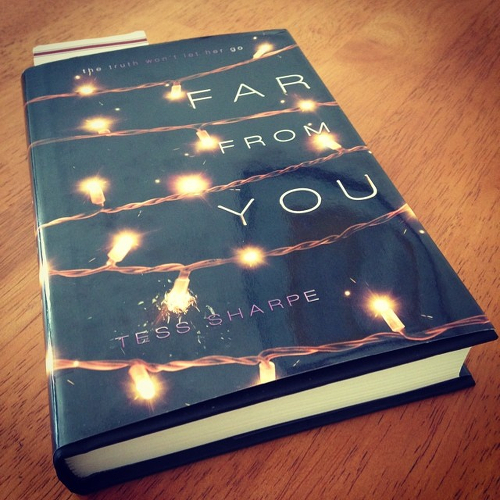 My copy of Far From You lying on the kitchen table.