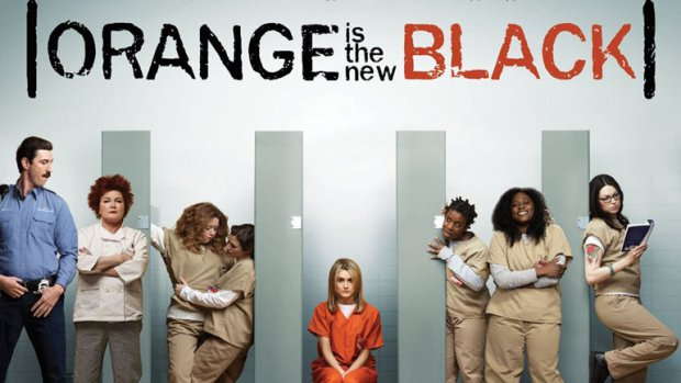 A promo for Orange is the New Black, featuring the cast members on stage.