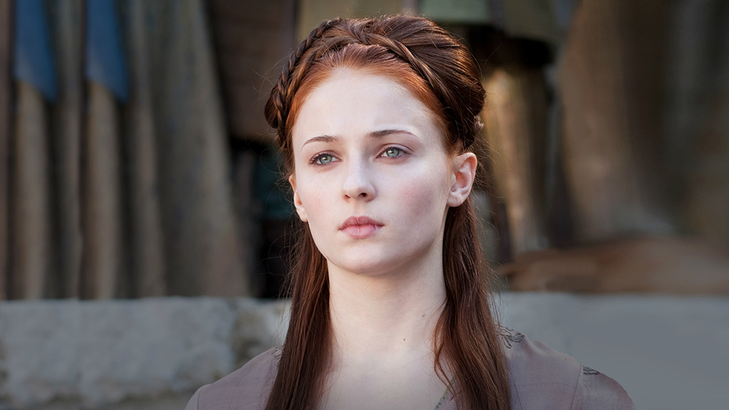A still of Sansa Stark from Game of Thrones.