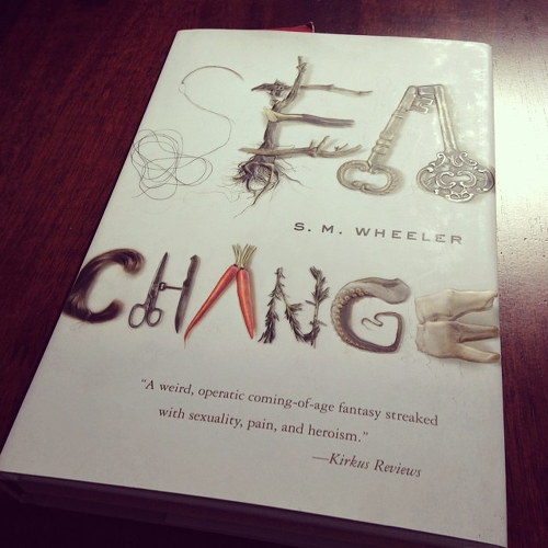 My copy of SEA CHANGE on the table.