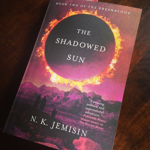 My copy of THE SHADOWED SUN.