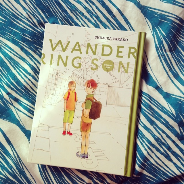 WANDERING SON VOL ONE on my bed.