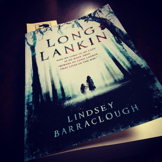 My copy of LONG LANGKIN, sitting on the table.