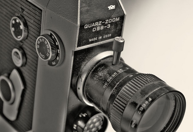 An old Super 8 camera