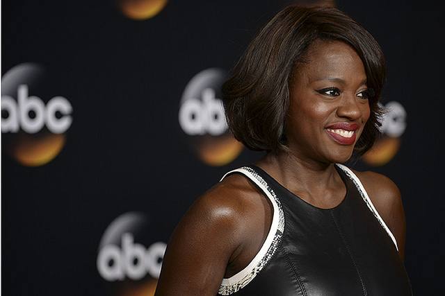 Actress Viola Davis at a press event