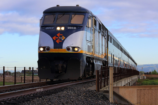 An Amtrak locomotive