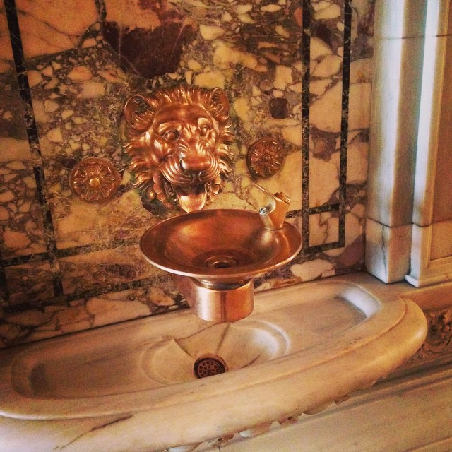 An impressive art deco water fountain