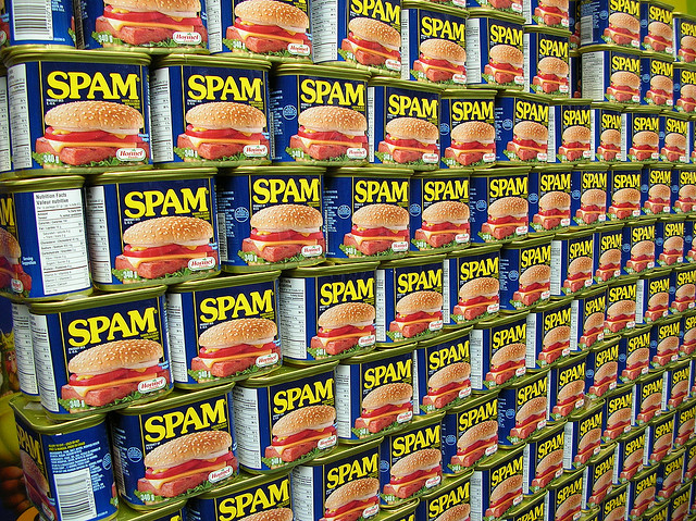 A display wall of spam