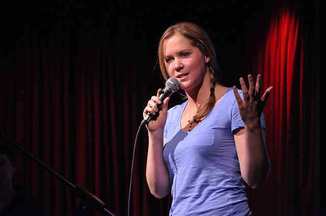 Comedian Amy Schumer doing standup.
