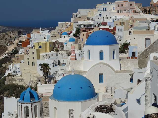 The village of Oia on Santorini