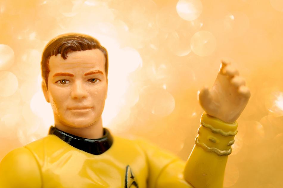 An action figure of Captain Kirk.
