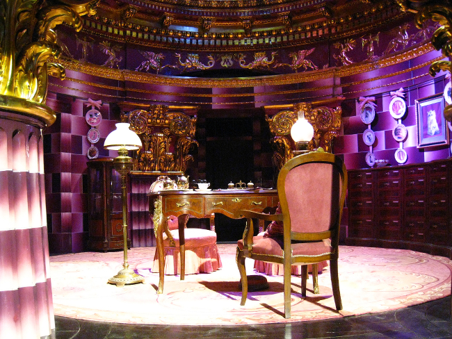 A set of Dolores Umbridge's office from the Harry Potter films.