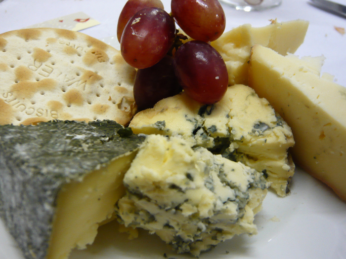 A cheese plate.