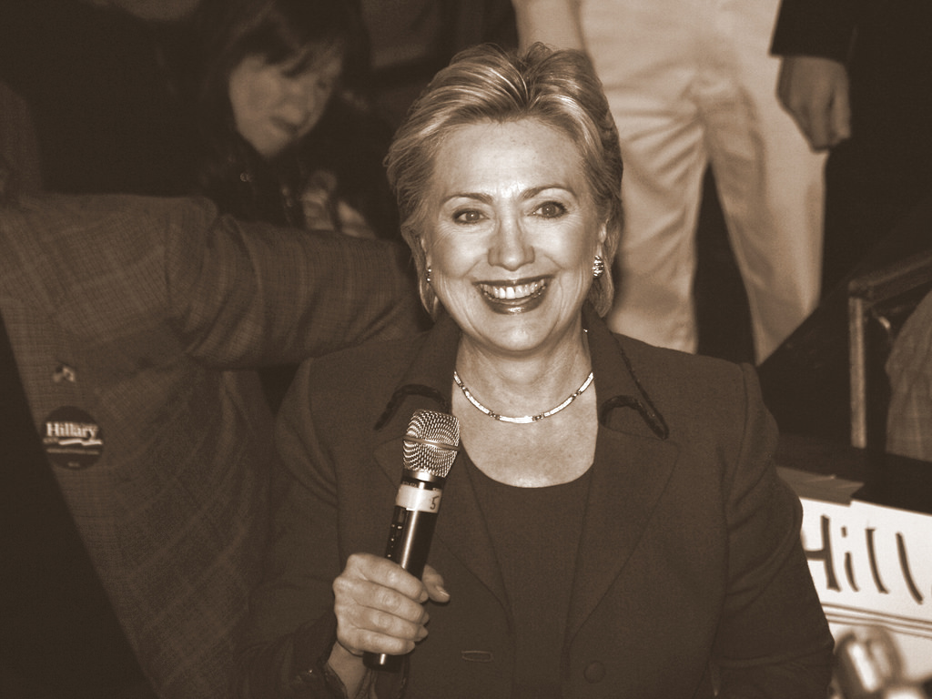 Hillary Clinton at a 2008 campaign event.