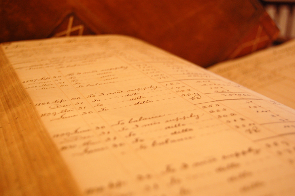 A handwritten ledger.