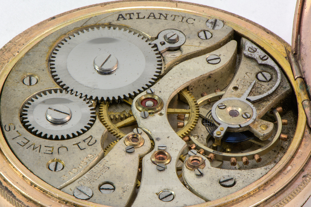 The innards of a pocket watch