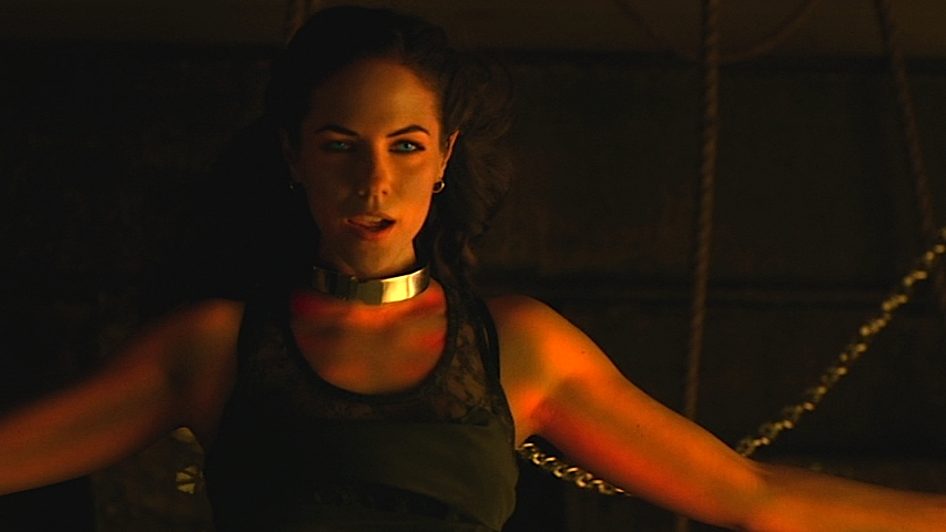 Bo on Lost Girl, chained to a wall.