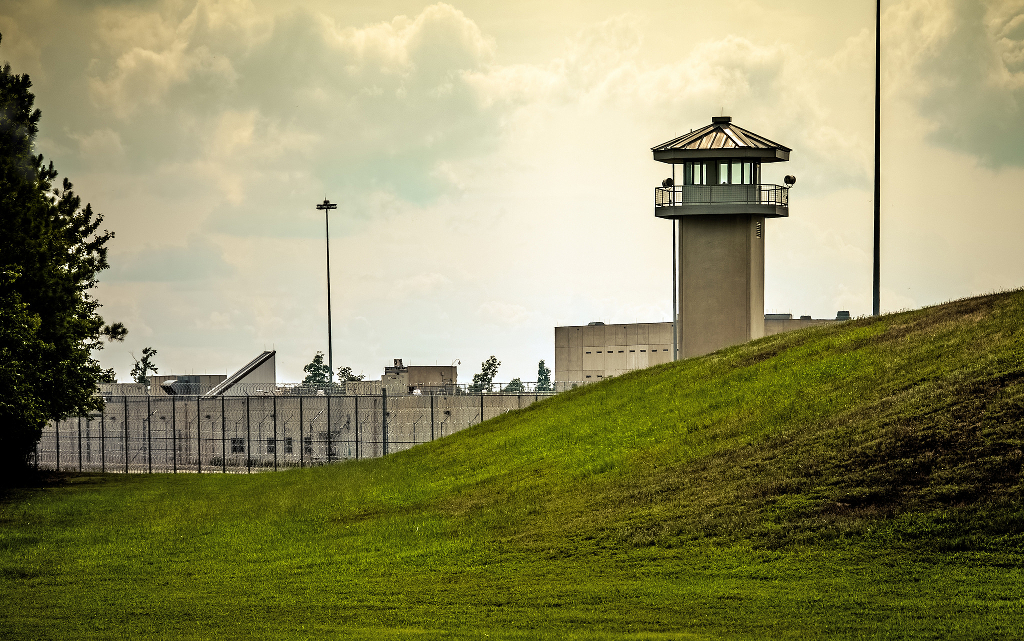 The death row at Sussex Prison in Virginia.