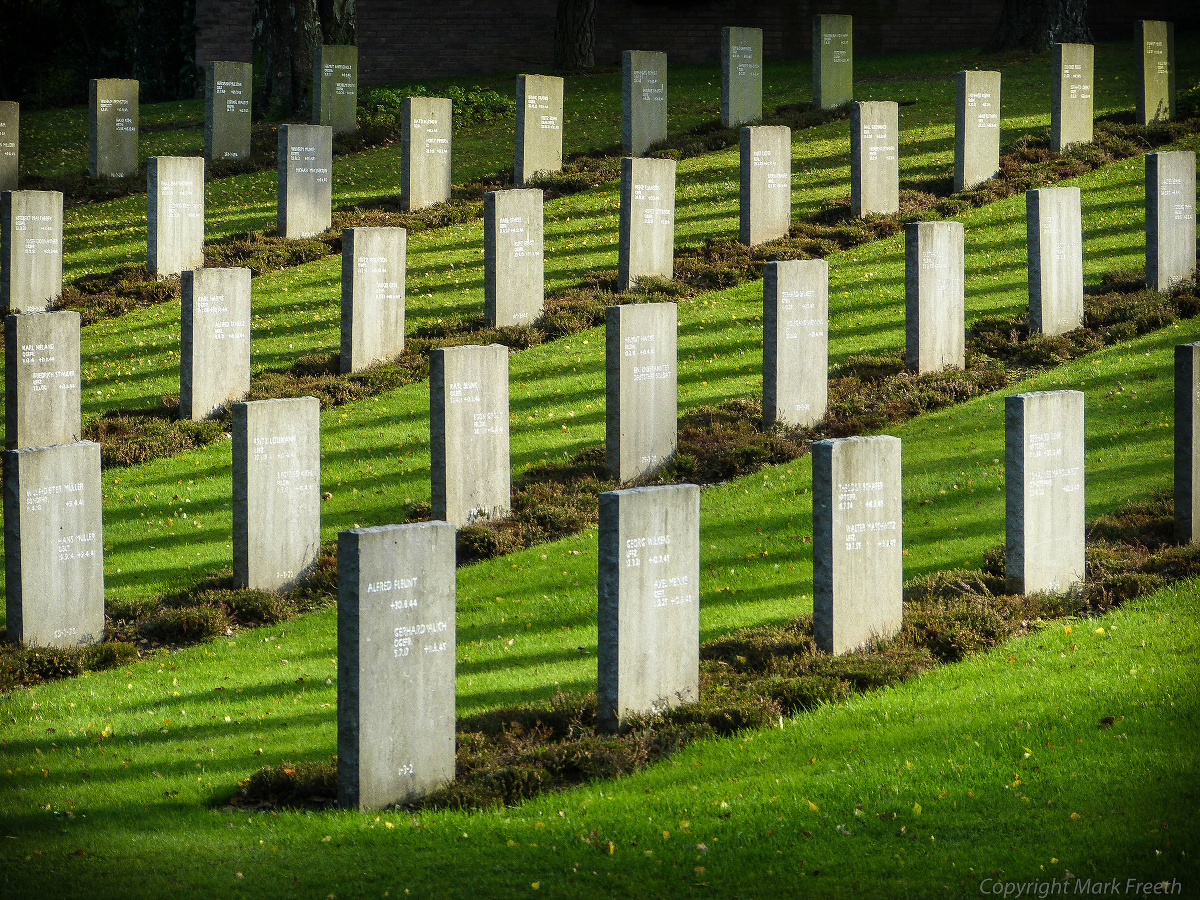 A German military cemetery.