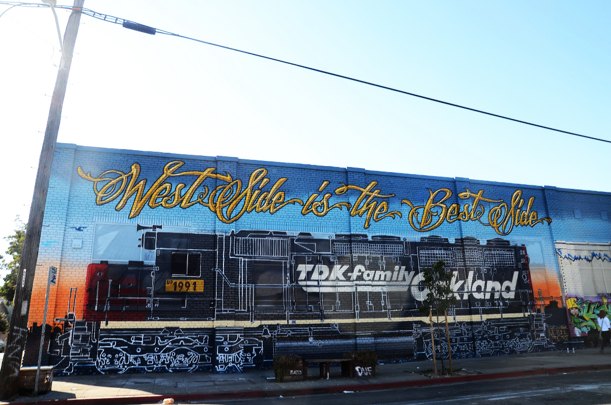 A mural celebrating West Oakland.