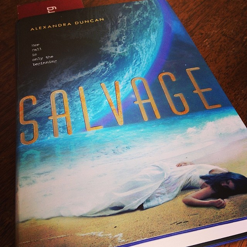 My copy of SALVAGE lying on the kitchen table in Berkeley.