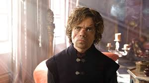 Tyrion Lannister from Game of Thrones, looking pensive.