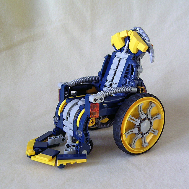 A wheelchair made out of LEGO