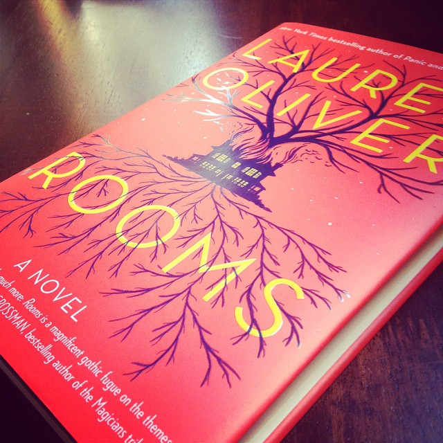 My copy of ROOMS by Lauren Oliver.
