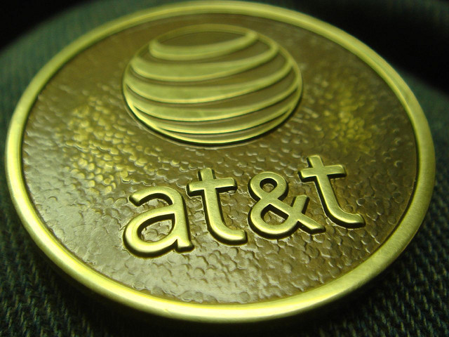 An AT&T medallion