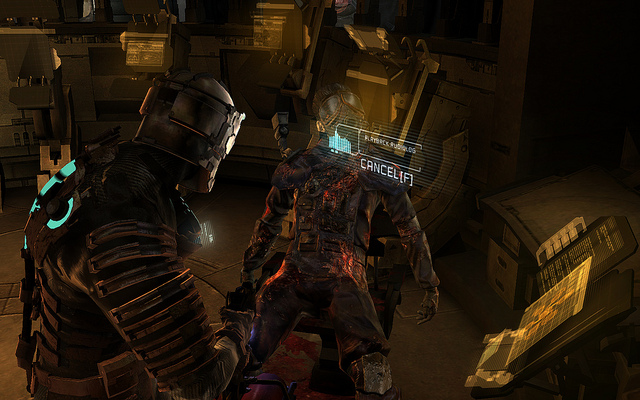 A screengrab from Dead Space