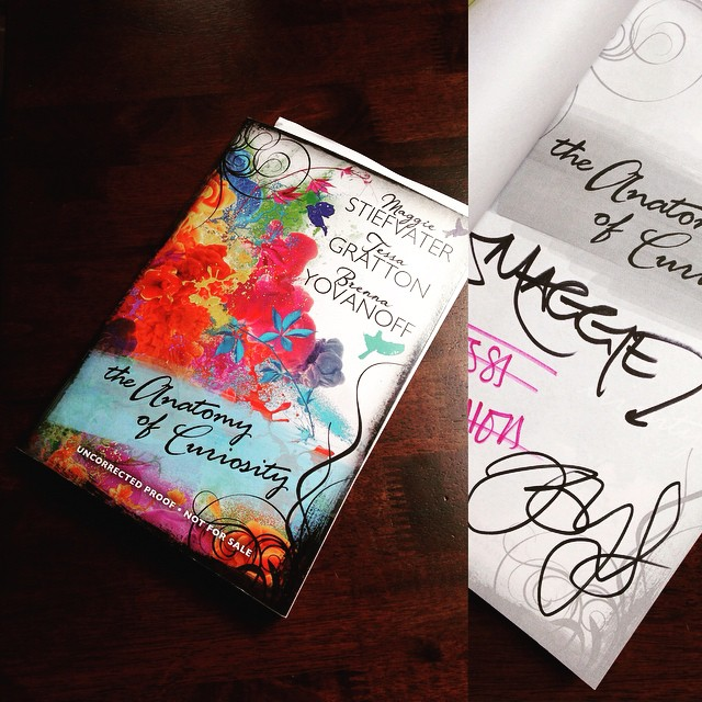 An autographed copy of THE ANATOMY OF CURIOSITY