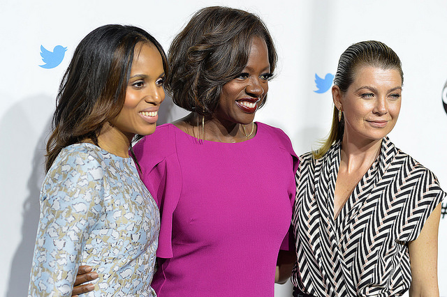 Kerry Washington at an event with Viola Davis and Ellen Pompeo