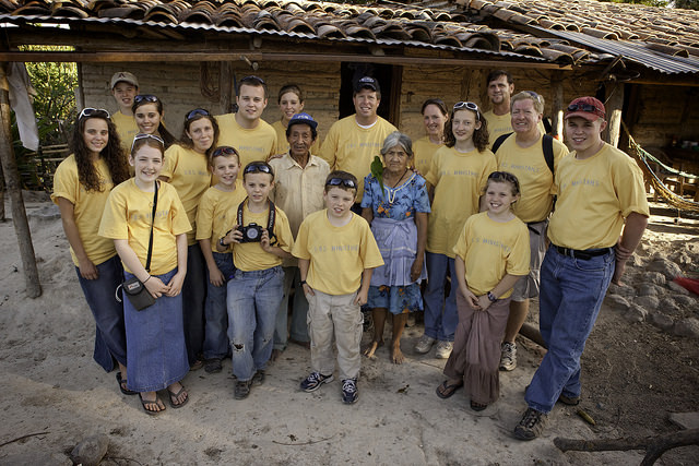 The Duggar family in Latin America on a service mission.