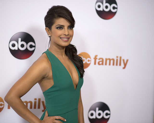 Bollyhood and Hollywood actress Priyanka Chopra on the red carpet.