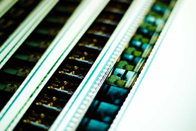 Strips of movie film.