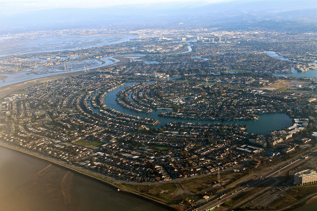 A overhead view of Silicon Valley.