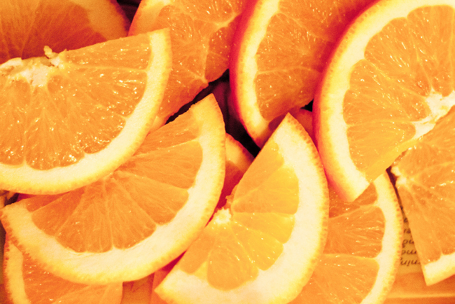 Scattered orange slices