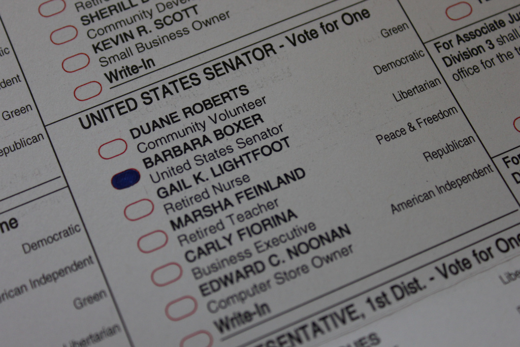 My ballot from 2008.