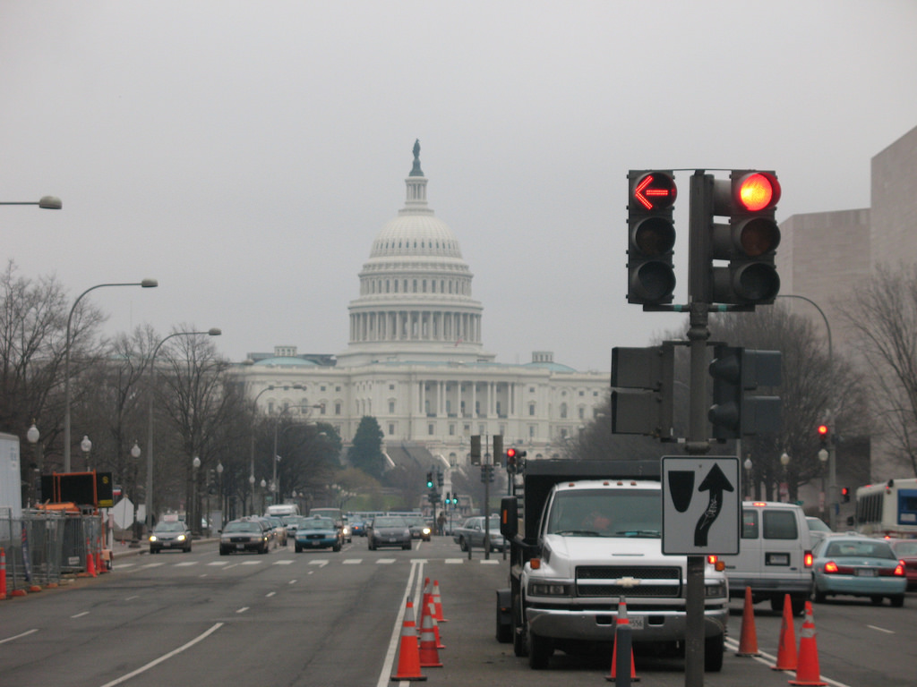 Congress on a cloudy day.