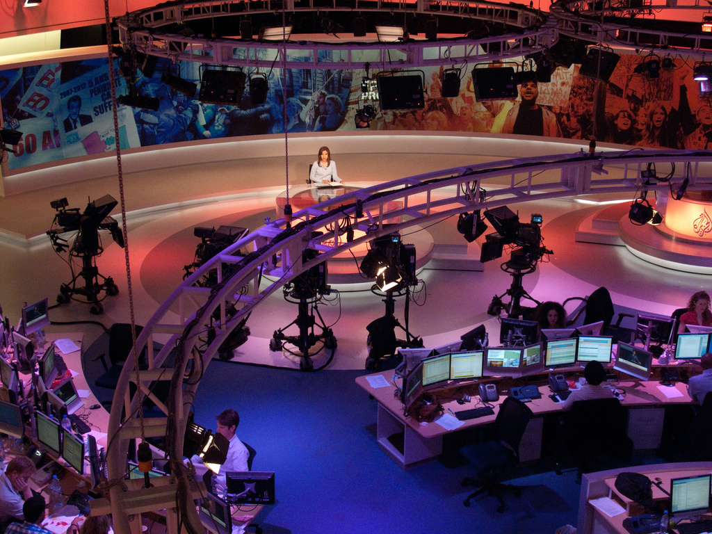 A sound stage at Al Jazeera.